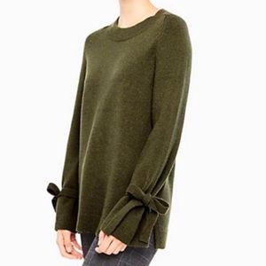 Ann Taylor Bow Cuff Wool Cashmere Sweater Small